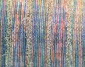 Hand Woven Rug Recycled Cottons Fibers Pastels