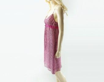 sale Betsy Johnson Vintage Slip Dress Betsy Johnson Dress 90s Leopard Dress 1990s Slip Dress 1, Boho Leopard Dress, Silk Chiffon Dress, s