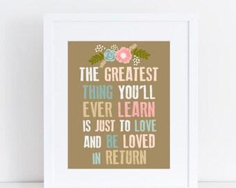 Learn to Love 8x10 art print