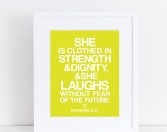 She Laughs - 8x10 Print