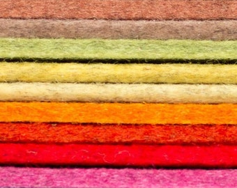 """Designer Wool Felt by the Foot - 100% Wool, 5mm Thick Earth Tone, 70.9"""" Wide"""