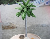 Sale! Miniature Palm Tree Handmade To Order So Realistic Artisan Designed Royal Palm In 1:12 Scale