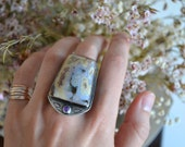 Ocean Jasper Floral Statement Ring
