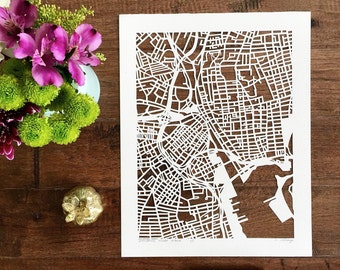"custom hand cut map, 11""x14"". SEPTEMBER completion"