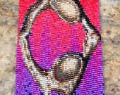 Atlas Bone Peyote Cuff Bracelet