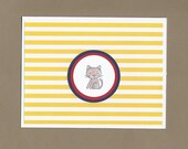 Pet Sympathy Card - Brown Cat