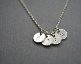 Tiny Initial Necklace Personalized Necklace, Gift for Best Friend, Mother's Necklace, Gift Sister, Initial Personalized, Monogram