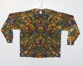 Tie Dye Shirt Psychedelic Autumn Blotter long sleeve Grateful Dead Tye Dye Adult T-shirt 2x 3x 4x hippie art L/S
