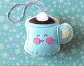 PDF Pattern - Hot Cocoa Felt Pattern, Kawaii Felt Ornament Pattern, Felt Softie Sewing Pattern, Felt Toy Pattern