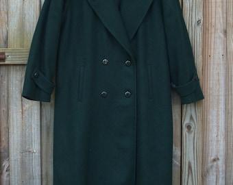 Forrest Green Wool Stephanie Mathews Overcoat (XL/XXL/XXXL)