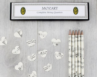 Music Teacher Gift - Music Pencils - Piano Teacher Gift - Teacher Appreciation - Music Lover Gift - Mozart Gift - Musician Gift - Music Gift