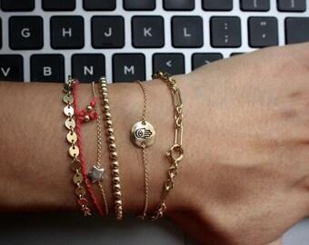 Hamsa Bracelet - 14K Goldfilled - Evil Eye Protection Bracelet