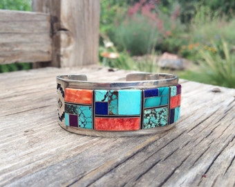 Navajo Turquoise Cuff Bracelet Native American Indian Jewelry, Navajo Bracelet Turquoise Jewelry, Turquoise Bracelet, Amazing Gift Wife Her