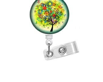 Colorful Tree - ID Badge Holder - ID Badge Reel - Teacher Badge Reel - Nursing Badge - Teacher Badge Reel - Medical Badge - Office Staff ID