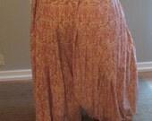4yd Cream & Pink Paisley cotton Pantaloon Harem Pant bellydance belly dance bollywood bhangra ATS tribal fusion