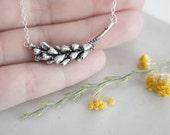 READY to SHIP - Lavender Silver Branch Necklace / AMARANTA Collection