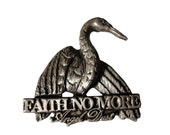 vintage FAITH NO MORE 1992 Angel Dust metal pin pinback badge mr bungle mike patton