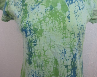 Crackle Tie Dye Light Green Size Large