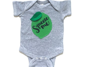 Lime Bodysuit, Baby Clothes, Cute Baby Gift, Summer Trends, Calligraphy Gift, New Mom, New Baby, Baby's First, Main Squeeze, Lemonade, Bey