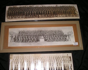 Vintage Military Memorabilia Marines,Army,Navy Soldiers Framed Military Men Photos XLG. Collectible Wall Art. Attic Find.