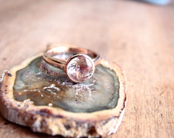 Sunstone Diamond 14k Rose Gold Engagement Ring Here Comes the Sun Select Your Stone