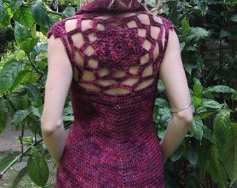 Crochet Woolen Pixie Mandala Dress an Original Design
