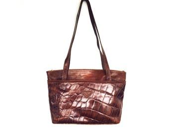 Vintage Italian Leather Tote Bag / Cagi