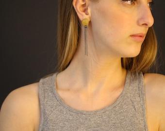 925 Sterling Silver earrings, 22K Yellow Gold, long gold earrings, gold tassel earrings, chandelier earrings silver, silver tassel earrings