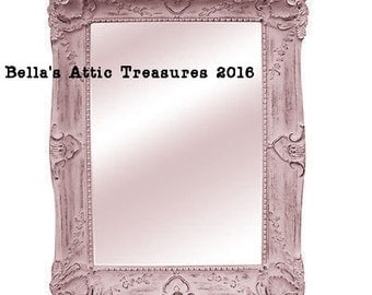 Ornate Mirror, Nursery Mirror, Shabby Chic Mirror, Pink Mirror, Choose color Size 45 x 34