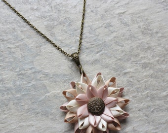 Rustic Wedding Jewelry, Rustic Necklace, Blush Necklace, Champagne, Ivory, Bronze Necklace, Rustic Bridesmaid Jewelry, Blush Wedding