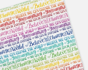 Baby Swaddle - Rainbow - You can do anything - Believe you can change the world