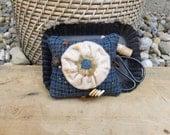 Primitive Wool Pinkeep Needle Felted YoYo Flower simple earlywork