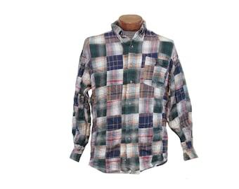 Vintage Patchwork Flannel Shirt Size Medium