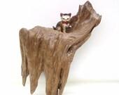 Small Cypress Wall Shelf / Dirftwood Wall Decor / Drift Wood Hanging Sculpture