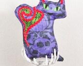 Fraidy Cat Halloween Plush Joker Mardi Gras Colors