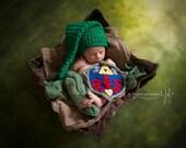 Link Newborn Photography Set Hyrule Shield and Hat Zelda