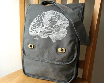 Brain Canvas Messenger Bag Laptop Bag For Men Bag for Women