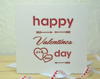 Personalised Laser Cut Valentines Card