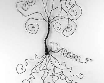 Dream Catcher Wire Sculpture Wire Tree Wall Hanging Art Home Decor