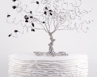 Yin and Yang Wedding Cake Topper When Two Become One Custom Wire Tree Sculpture Ready to Ship