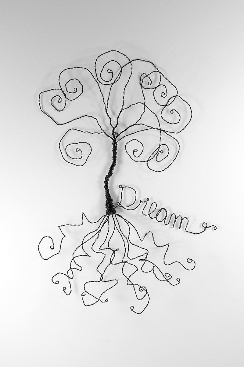 dream catcher wire sculpture wire tree wall hanging art home