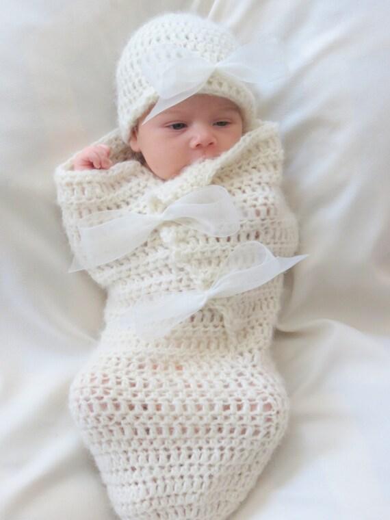 Crochet Pattern Cocoon And Hat Pattern Newborn Photo Prop