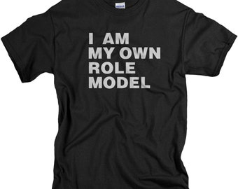 Boys Shirts I Am My Own Role Model Tshirt for Boys Teens - Black T Shirts - Youth Sizes