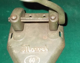 Marvel Hole Punch Wilson Jones Two Hole Paper Punch Marvel 60 Vintage Hole Punch Heavy Steel Double Hole Punch Press