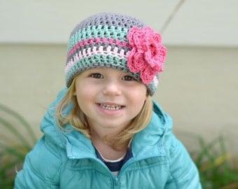 Baby hat, baby girl hat, hospital hat, newborn girl hat, crochet girls hat, girl hopital hat, girls hat, newborn girls hat, little girl hat