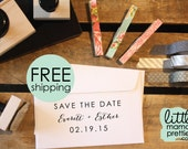 Wedding Stamp, Save the Date, 1x2 Inch