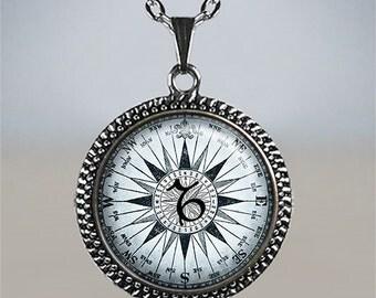 Capricorn compass pendant Capricorn pendant, Capricorn necklace, Capricorn birthday gift astrology gift, Zodiac jewelry