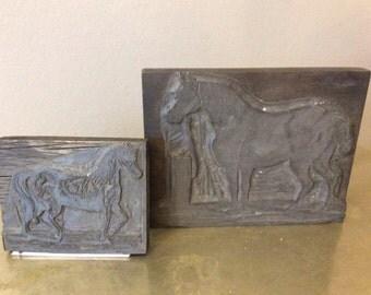 Vintage French Tool-Die Horse Metal Stamp
