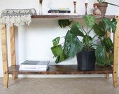 Console Table - Wooden Console Table - Reclaimed Wood Table - Entryway Table - Living Room - Modern Home - Table