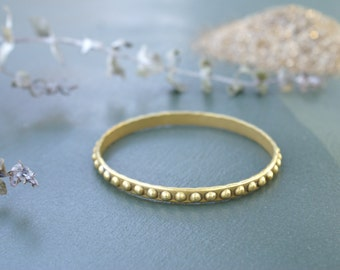 the Brass Dotted bangle